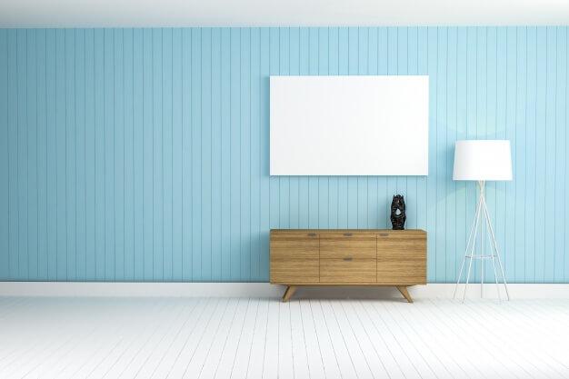 kolor niebieski w mieszkaniu