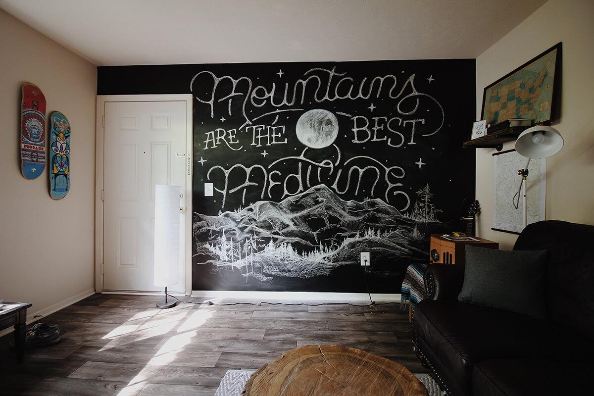 farba tablicowa w mieszkaniu