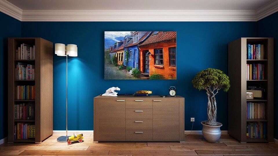 kolor granatowy w mieszkaniu