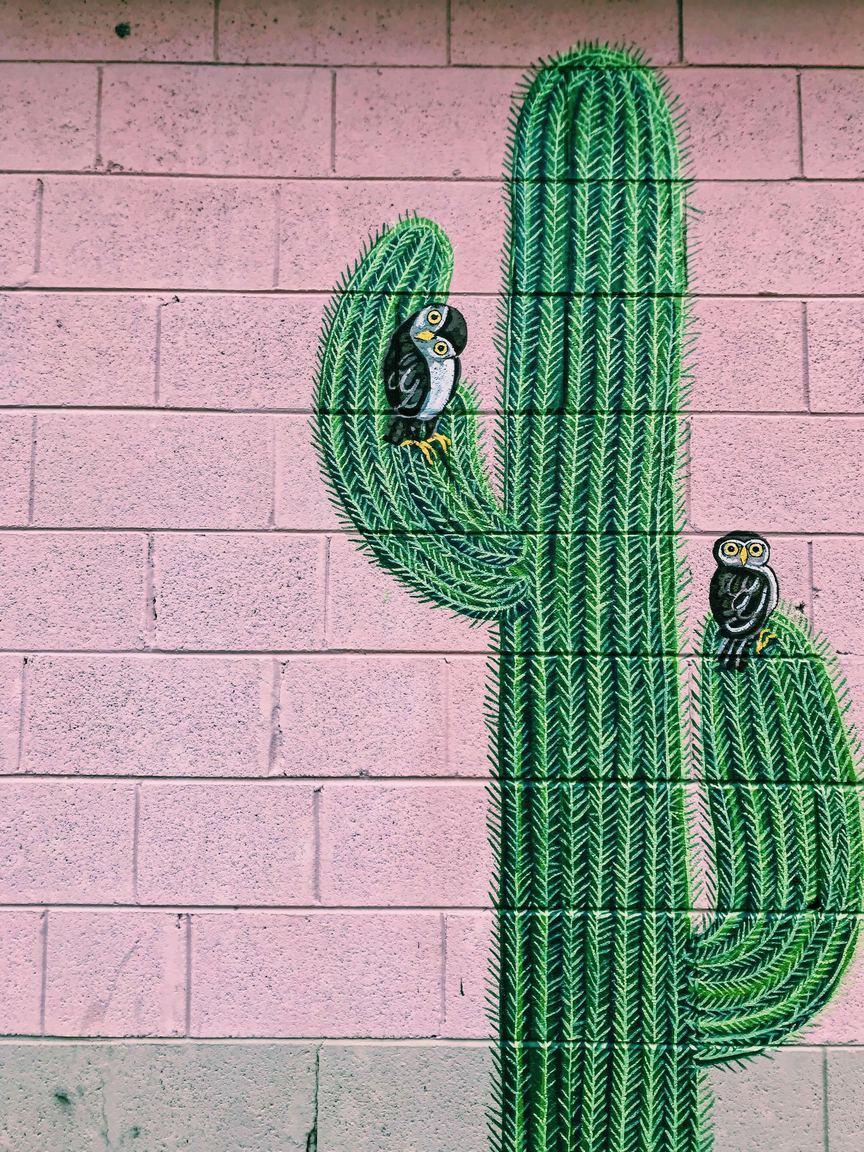 Dekoracja na ścianie malowana farbą