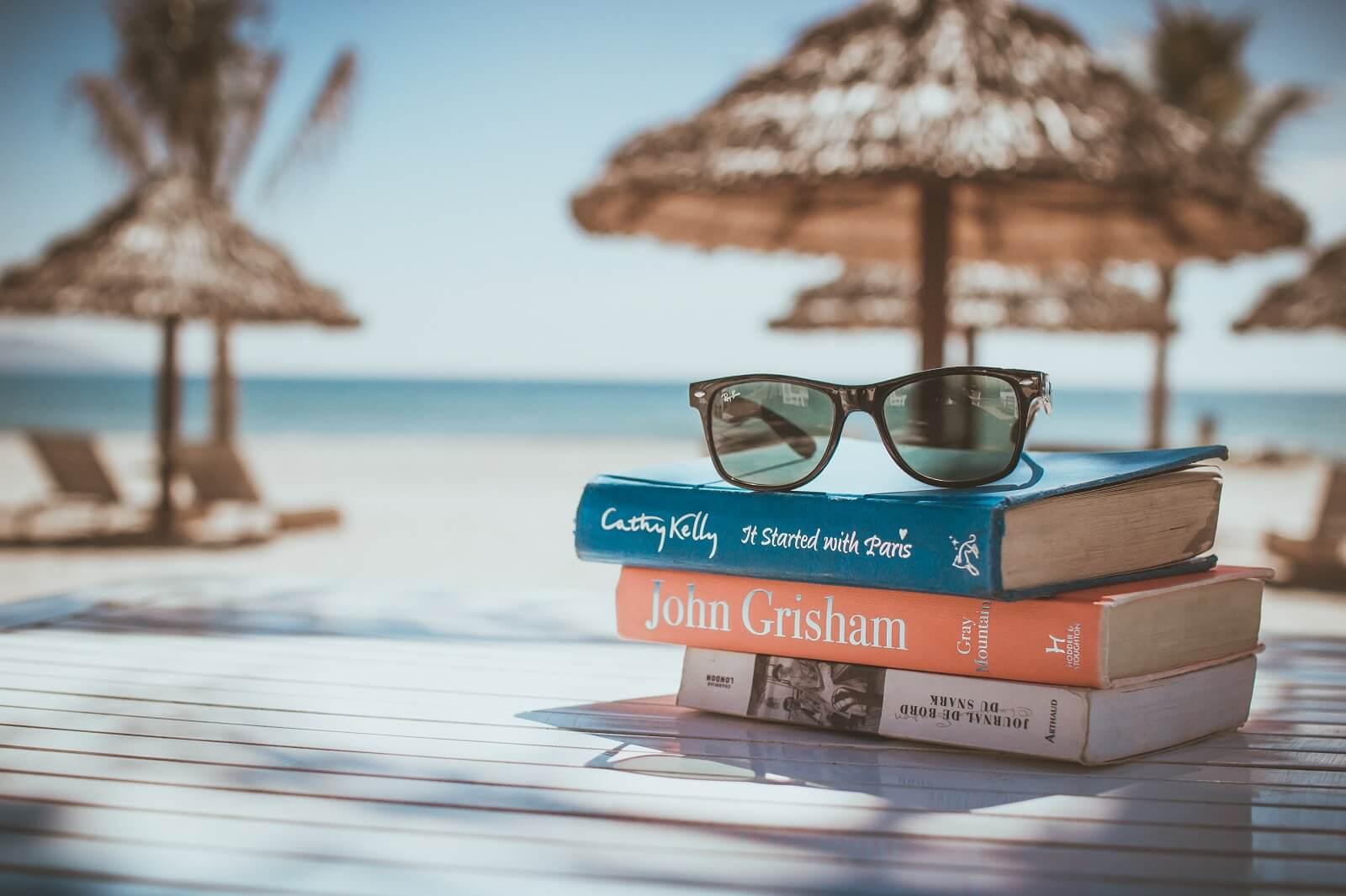 Książki na plaży