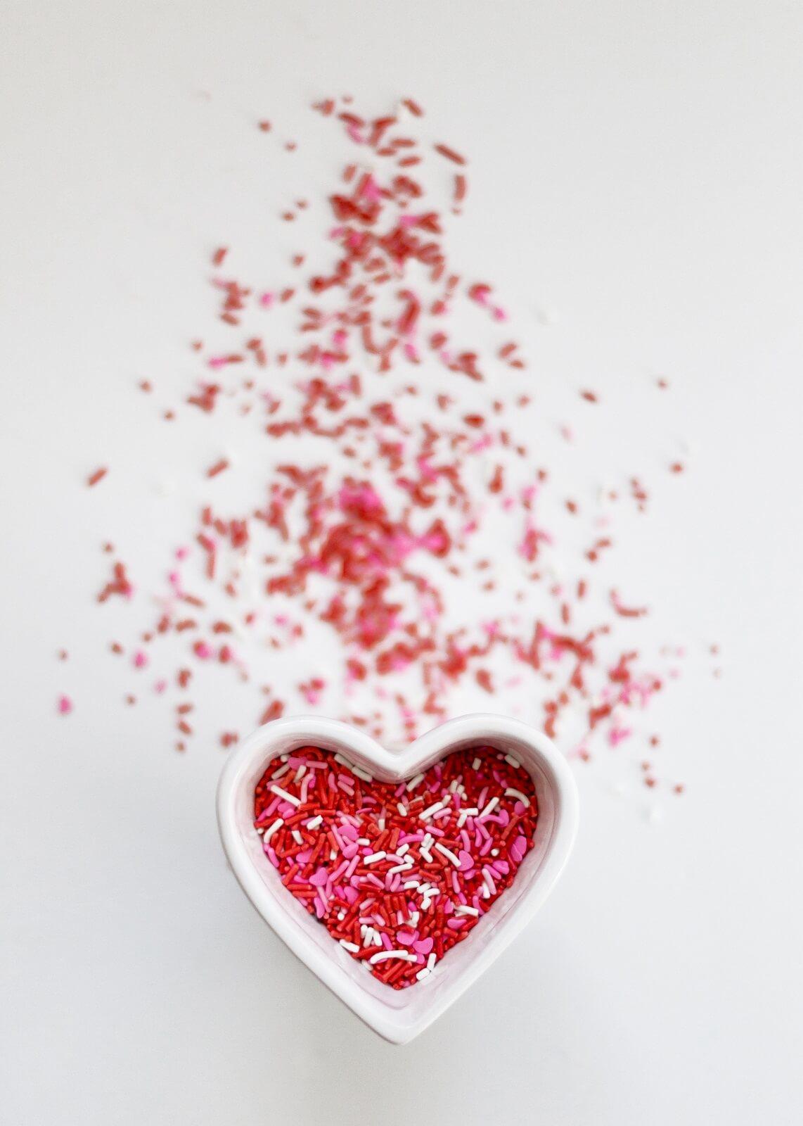 Kubek w kształcie serca