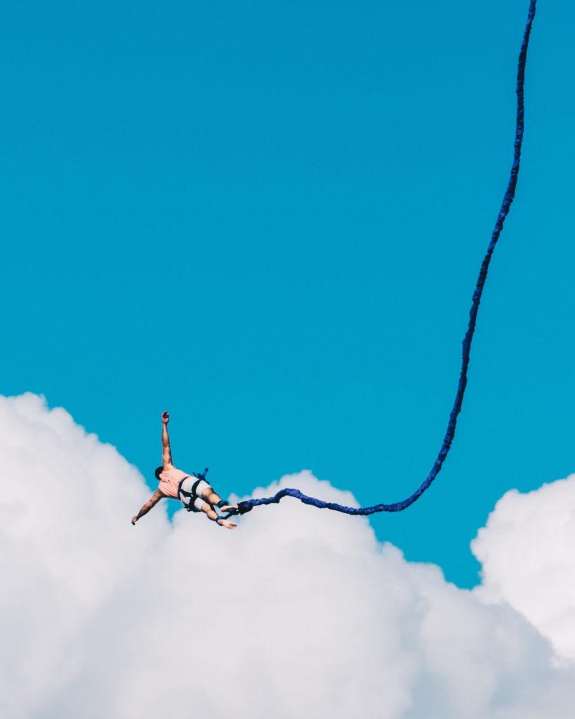 Skok na bungee na Dzień Chłopaka 2019