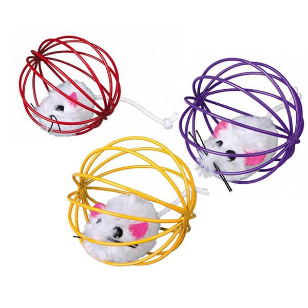 Piłka druciana z myszką Trixie TX-4115