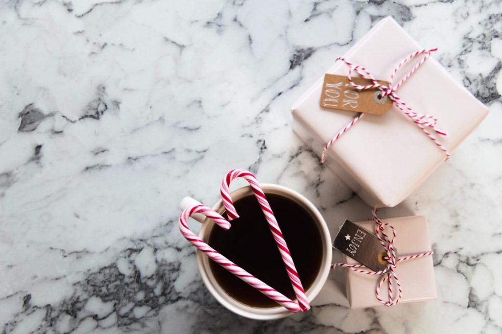Prezent bożonarodzeniowy kawa