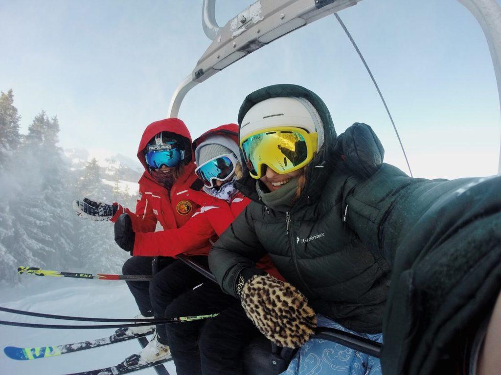 Selfie na nartach