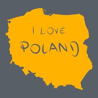 Mapa Polski I love Poland