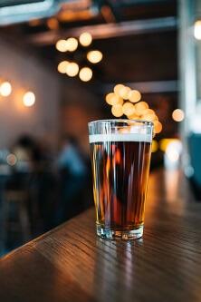 Piwo w szklance