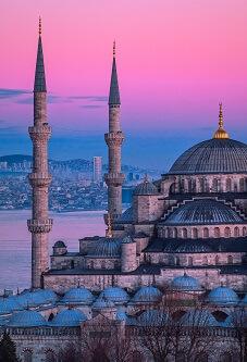 Zachód słońca w Turcji