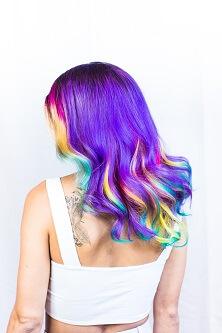 Włosy kolory tęczy