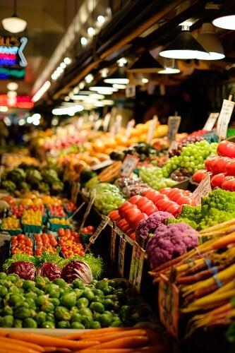 Targ z warzywami