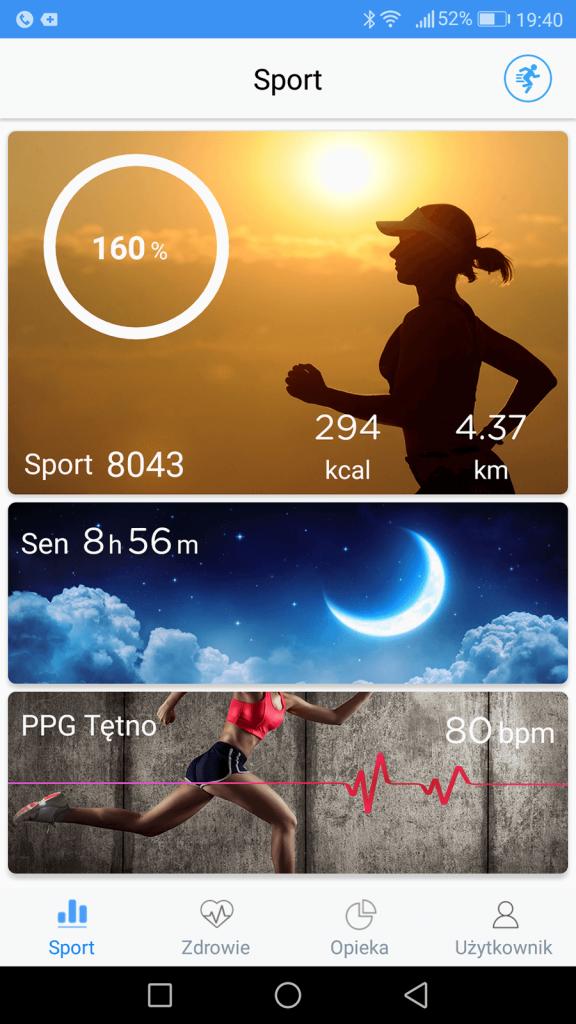 Dzienne statystyki aplikacji na smartfona