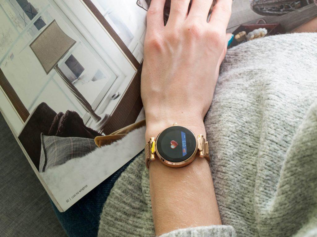 Aktywny pomiar tętna smartwatchem Lisa