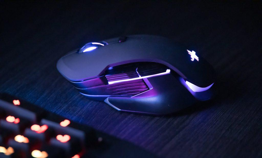 Podświetlenie bezprzewodowej myszki uRage