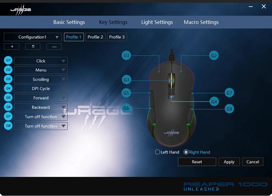 Oprogramowanie myszki gamingowej