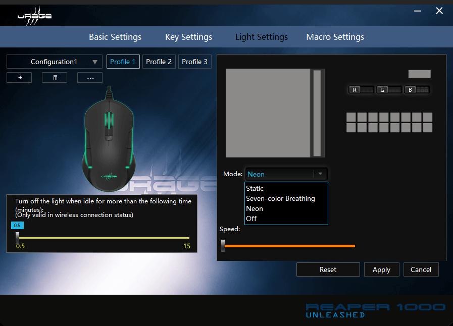 Oprogramowanie do sterowania podświetleniem myszki