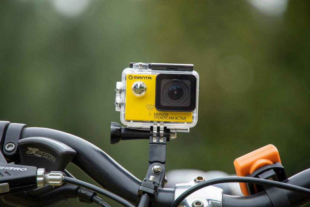 Montaż kamery sportowej na rowerze