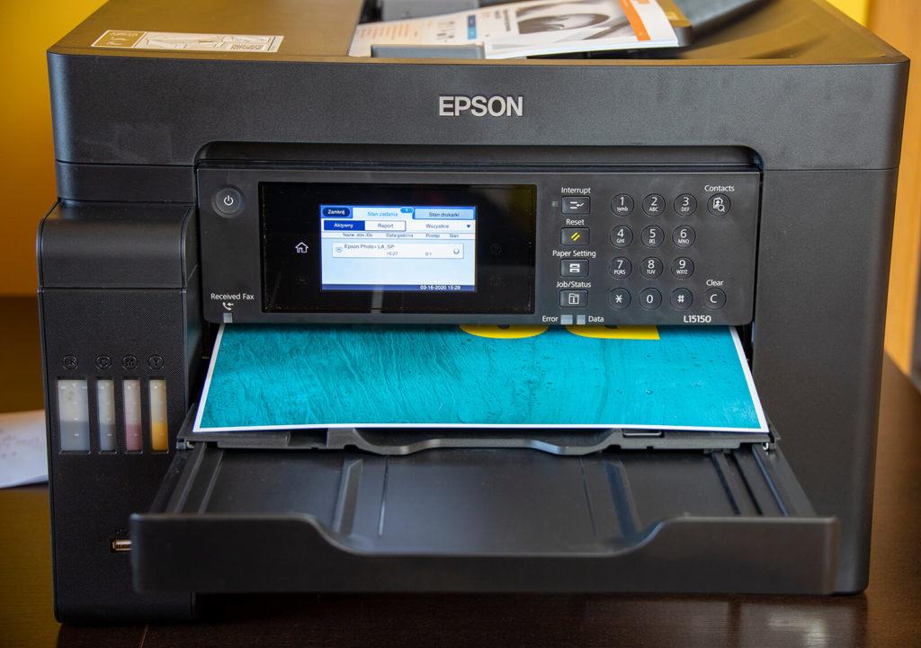 Drukowanie obrazu na Epson EcoTank L15150